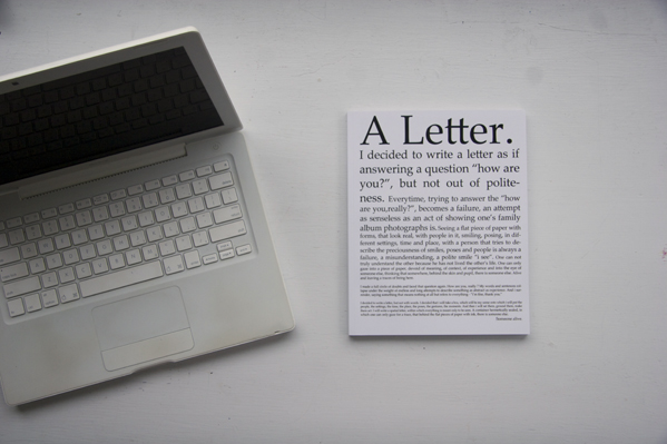 A Letter © Alexey Vanushkin