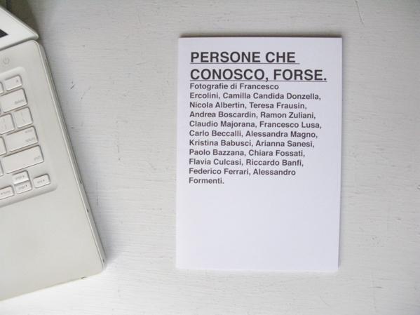 PERSONE CHE CONOSCO, FORSE